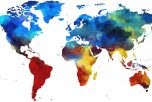 colourful map